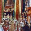 ナポレオンの戴冠式を描いたペルシャ絨毯