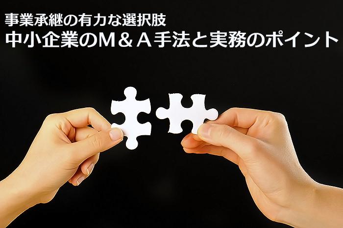 事業承継の有力な選択肢 中小企業のM&A手法と実務のポイント